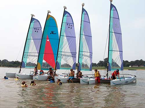 Aquatic Sports Belize » Now renting Hobie Wave Catamaran Sailboats